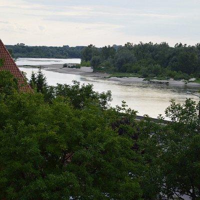 Widok na Bulwar z tarasu Hotelu Kazimierz
