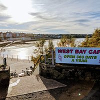 West Bay Cafe is down the steps on the seafront.
