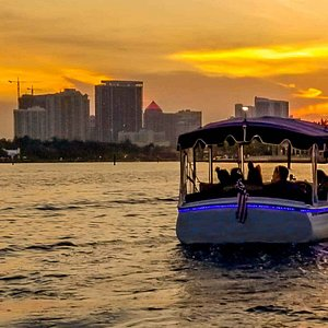 Right place at the right time. The sunset cruise varies throughout the year. But it is always beautiful.