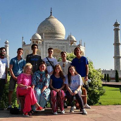 Our guests at Taj Mahal