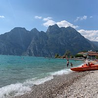 Torbole beach! The most beautiful beach at lake Garda!