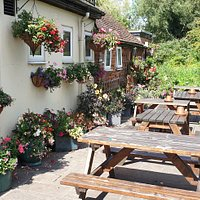 Side of the pub and garden