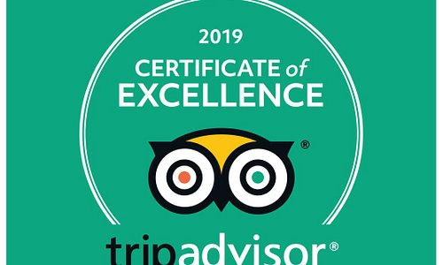 Certificate of Excellence 2019  We couldn't have done it without you!