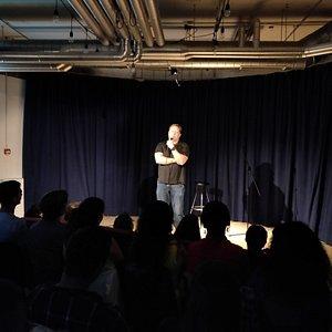 One of our regular comedians at Klara