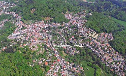 Luftbildaufnahme Lindenfels/ Odenwald