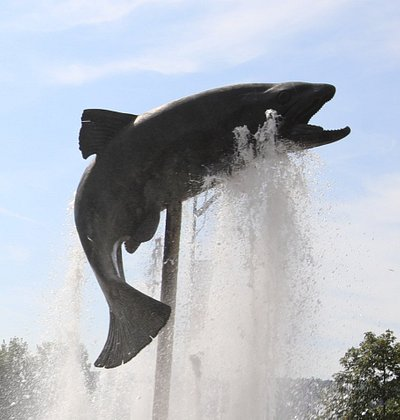 C'est une jolie fontaine que j'ai vu lors de mon arrivée sur Ornans. Celle-ci est magnifique