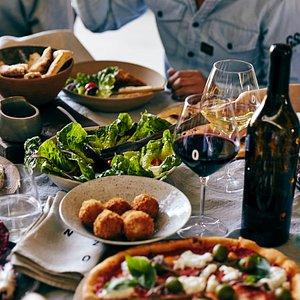 Beautiful food and premium wines