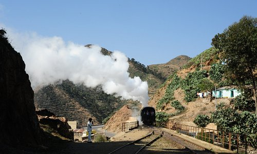 A riveting 19-century steam train excursion trip through the mountains from Asmara downhill to Nefasit and uphill back to Asmara with Africa's oldest yet recently renovated railway.
