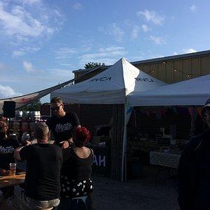 Food stalls at Brewstock 2