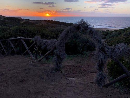 Vista sul mare, tramonto