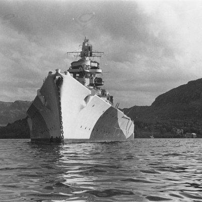 Tirpitz_in Kaafjord  Juli 42 during the Operation Rösselsprung
