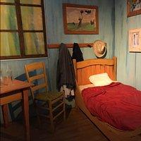 Vincent Van Gogh's bedroom as part of the Van Gogh 360 immersive experience.