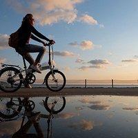 Cycling along Bostancı coast of Istanbul.