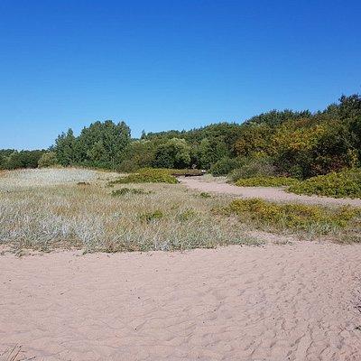 Тропа, пляж и форт Риф