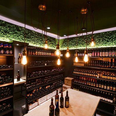 Our Vintage Cellar, a walkable temperature and humidity controlled room filled up with beers that can age to perfection.