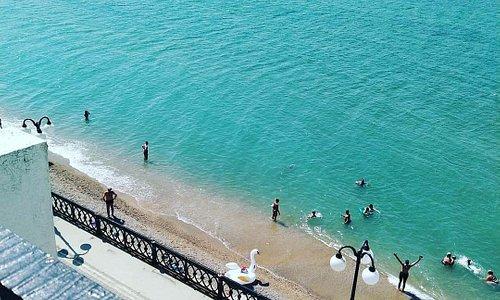 Апартаменты Panderoza в Нашем Парусе. Вид с балкона. Море прекрасно!!! 23.08.19
