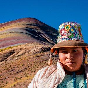 Palcoyo Rainbow mountain. The new rainbow mountain located in Cusco area