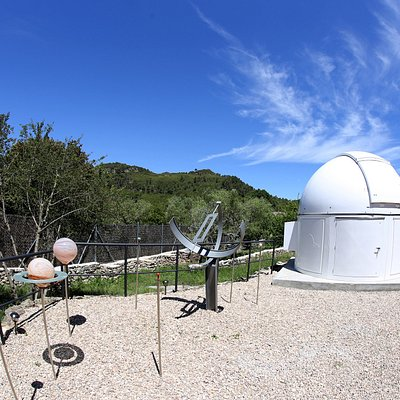 Solar System model and Observatory campus