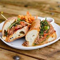 Spicy Calabrese Pork Sandwich