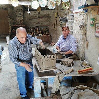 Padre e figlio al lavoro
