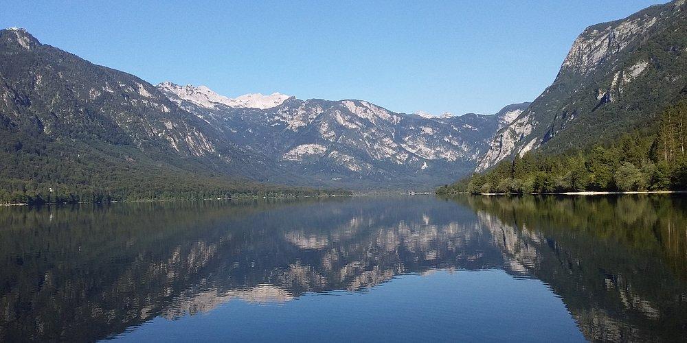 Озеро Бохинь, Словения, 6 ч утра