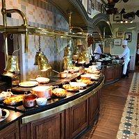 The beautifully prepared buffet.