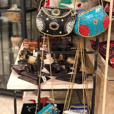 One of Souk Zara's handmade souvenirs! Purses of small and medium sizes available at Souk Zara Petra