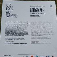 Description Plaque of Container Sculpture