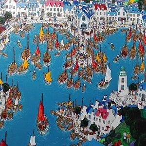 Galerie Izart Pont- Aven (Bretagne -France) Les toiles de celebres bretons comme Evans ou Tremohars y sont presentees