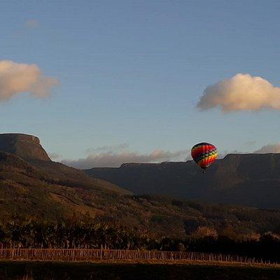 Canyon Churriado com nosso lindo balão.