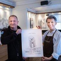 white living - exibition of arctic wild life - fotografer Tommy Simonsen - Harstad - café de 4 roser
