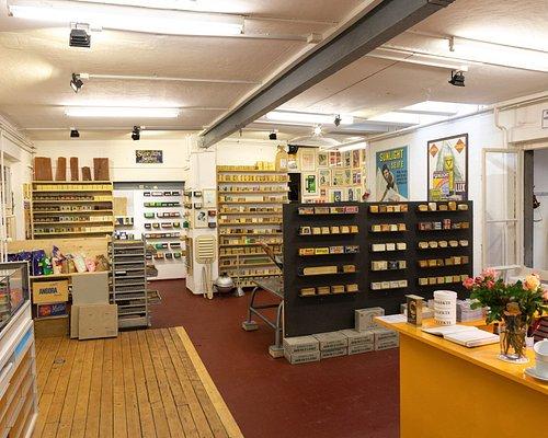 Innenaufnahme des Seifenmuseums. Entdecken Sie die jährlich wechselnde Wechselausstellung.