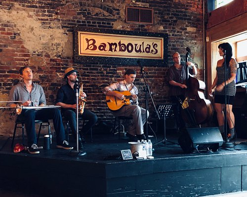 New Orleans Swinging Gypsy's at Bamboulas on Franchman Street.