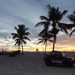 Pôr do sol em Mangue Seco.
