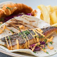 TACO TUESDAYS - BREADED AND GRILLED FISH W RED SLAW & SRIRACHA MAYO