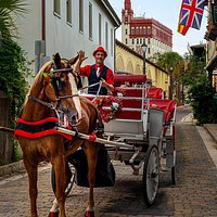 My photo tours share the neighborhood with horse and buggies in America's oldest City.