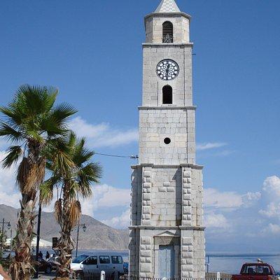 Pyrgos Rologion i Symi stad på Symi