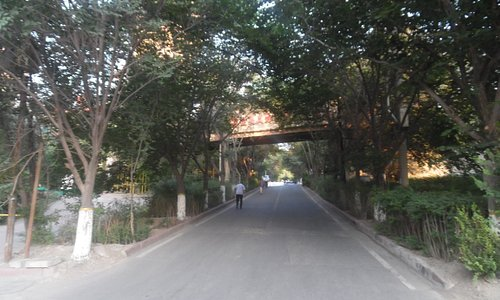 park entrance from street
