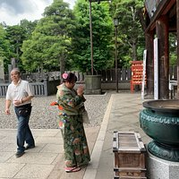 Summer Yukata. This was taken at the nearby Temple