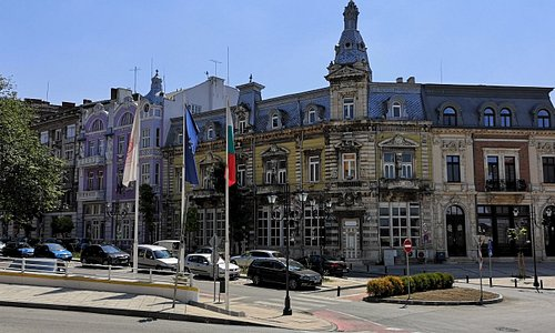 Bulgarian city Ruse with one of it beatiful architecture from 19 century