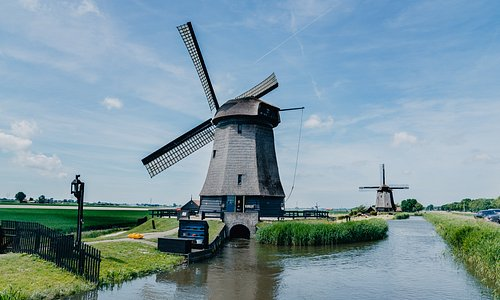 Old mill used to dry the polder. You can climb all the way to the top