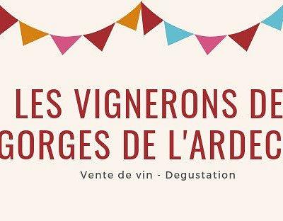 Les vignerons des gorges de l'Ardèche, Vente de vin et dégustation