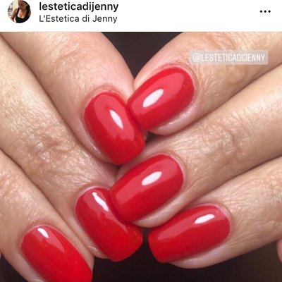 Semipermanente gelish 😍 #rossojenny
