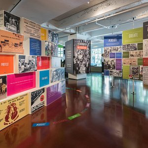Photo of our core exhibition Discrimination and Resistance, An Oregon Primer.