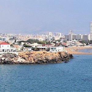 View of Punta de Nares from the island between Playa de Nares and Playa Castellar