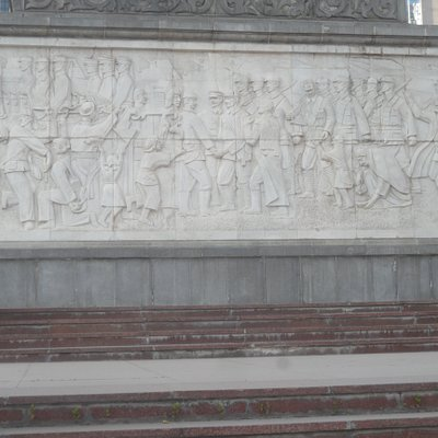 relief on side of monument