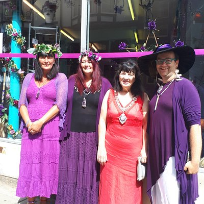 The Grand Opening of Curious Treasures. Opened by Scarboroughs Deputy Mayor Roberta Swiers on Saturday 6th July 2019.