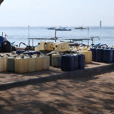 """Semawang Beach, Sanur, """"petrol station"""" for the dive boats"""