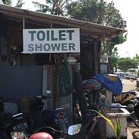 Semawang Beach, Sanur, very local toilet/shower