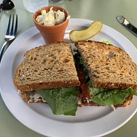 Tarragon Chicken Salad Sandwich - Kitchen Garden Cafe at the Coastal Maine Botanical Gardens  -  Boothbay, Maine